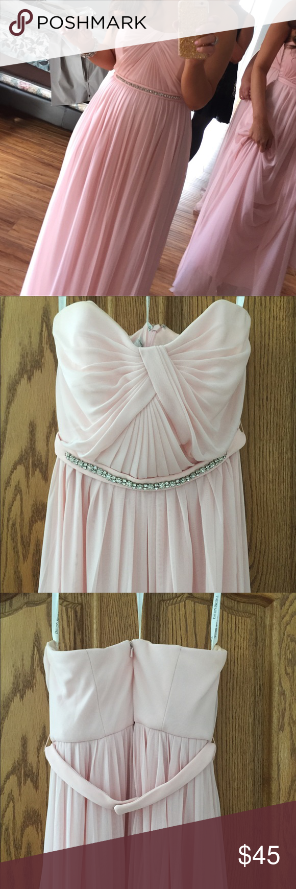 Davids bridal pink bridesmaid prom dress prom and dry cleaning