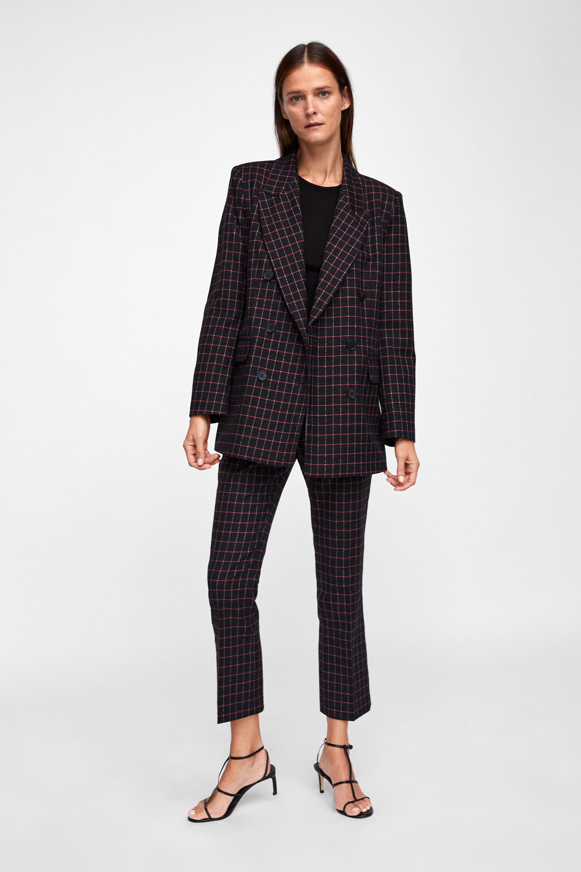 29a66fbc Image 1 of CHECKERED DOUBLE BREASTED BLAZER from Zara | Net a porter ...