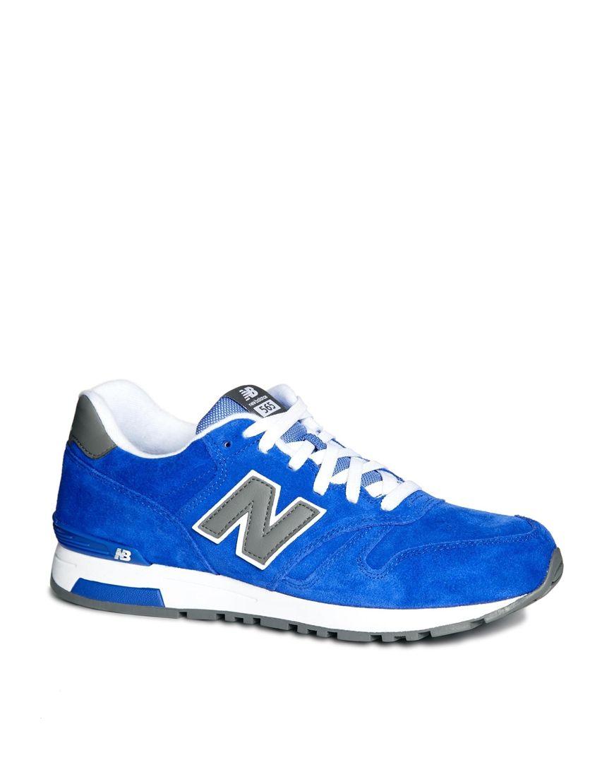 Mens Nouveau Solde Bleu 565 Formateurs