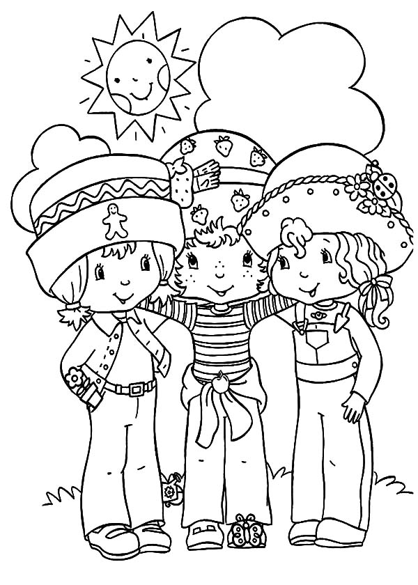 Preschoolers Best Friends Coloring Pages : Best Place To Color In 2020  Strawberry Shortcake Coloring Pages, Coloring Pages, Cartoon Coloring Pages