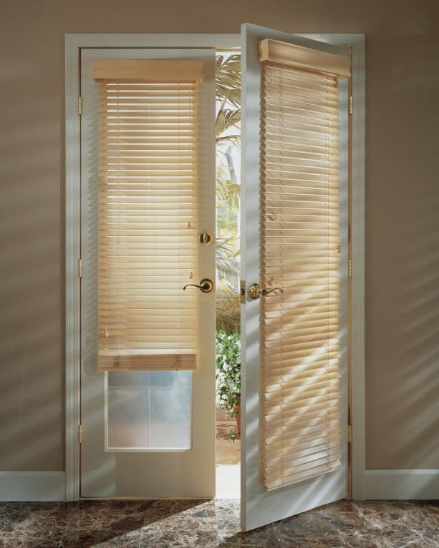 Window Treatments For French Doors : Roman Shades For
