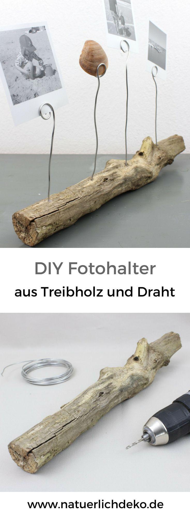 DIY Fotohalter aus Treibholz - Natürlich Deko
