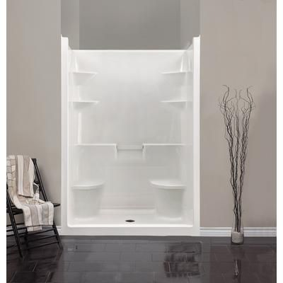 One Piece 5 Foot Shower Mirolin Melrose 5 Acrylic 1 Piece Shower Stall With Dual Seats