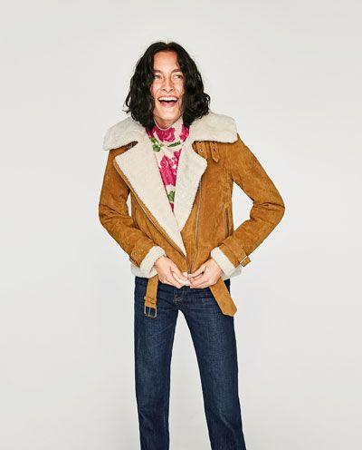 En Motard Image Veste De Retourné Zara 5 Styles Cuir twHHIxqp