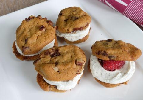 Recette : Double Cookies mascarpone framboises ! #dessertfacileetrapide