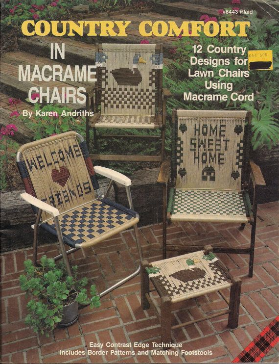 Craft Book 8443 Country Comfort in Macrame Chairs by