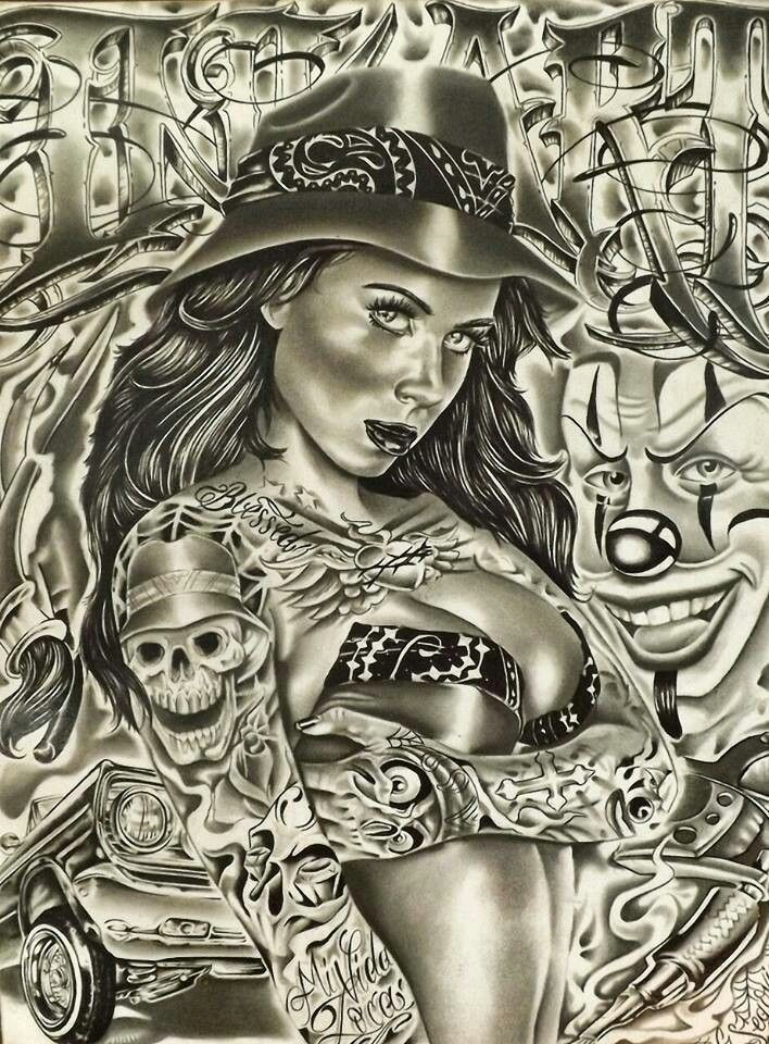 Chicana Bandana Print Tattoo