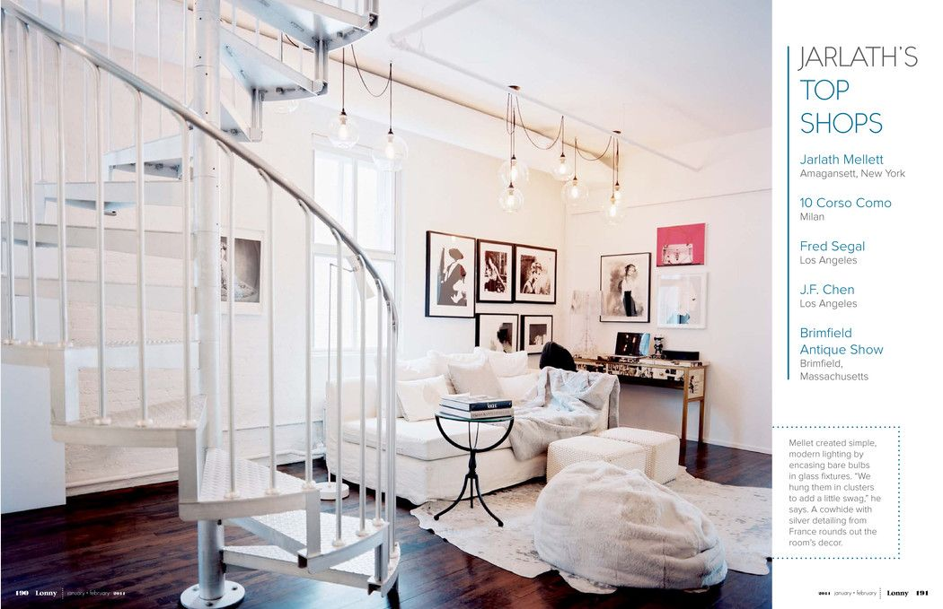 I love the dark floors against the white furniture. The dark frames with the black and white photos is perfect on the walls. The lighting is FAB.  Not over designed or filled with stuff. I really like this room.