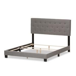 Baxton Studio Cassandra Gray Fabric Upholstered King Bed-28862-7459-HD - The Home Depot