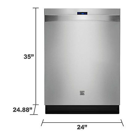Kenmore Elite 24 Built In Dishwasher Stainless Steel 1 Built