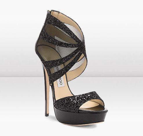 Jimmy Choo   LIV   Mesh and Glitter Platform Sandals   jimmychoo.com