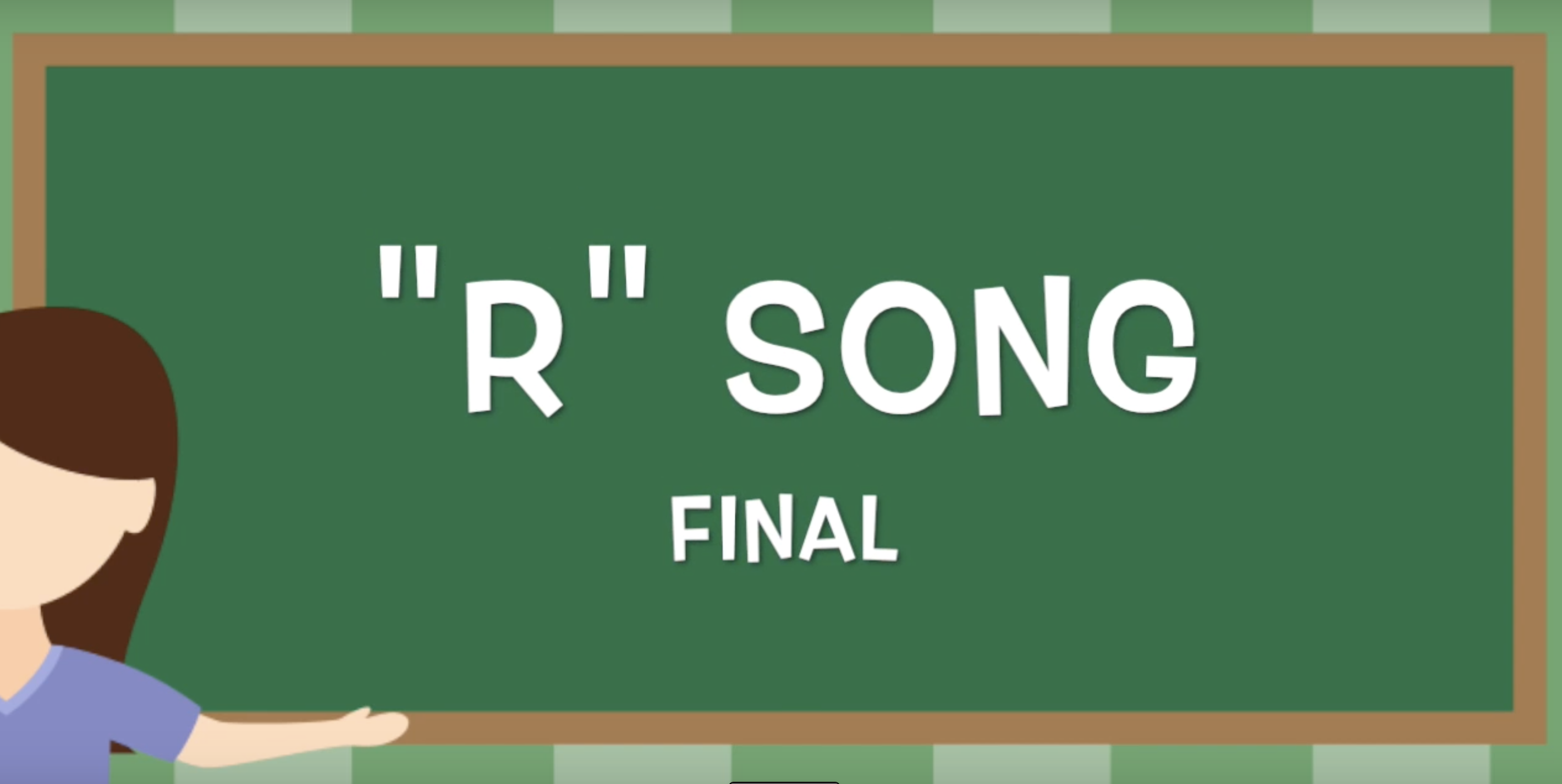 This Is A Speech And Language Song That Targets R In The