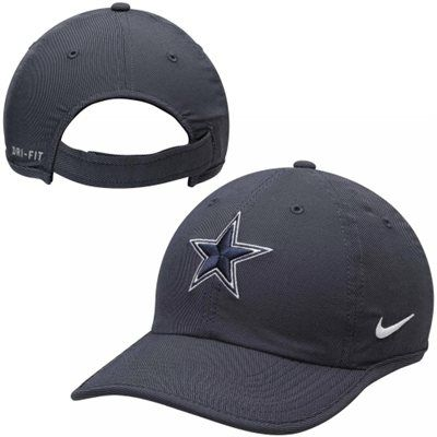 c29817e5ccf Mens Dallas Cowboys Nike Navy Blue Heritage 86 Dri-FIT Slouch Adjustable Hat