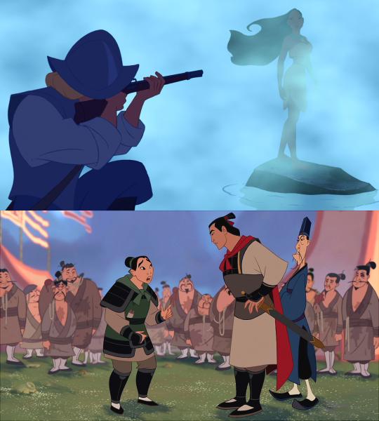 I love the pocahonta's scene