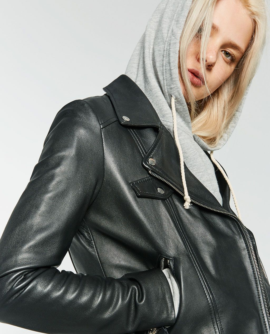 BASIC LEATHER JACKETOUTERWEARWOMANCOLLECTION AW16