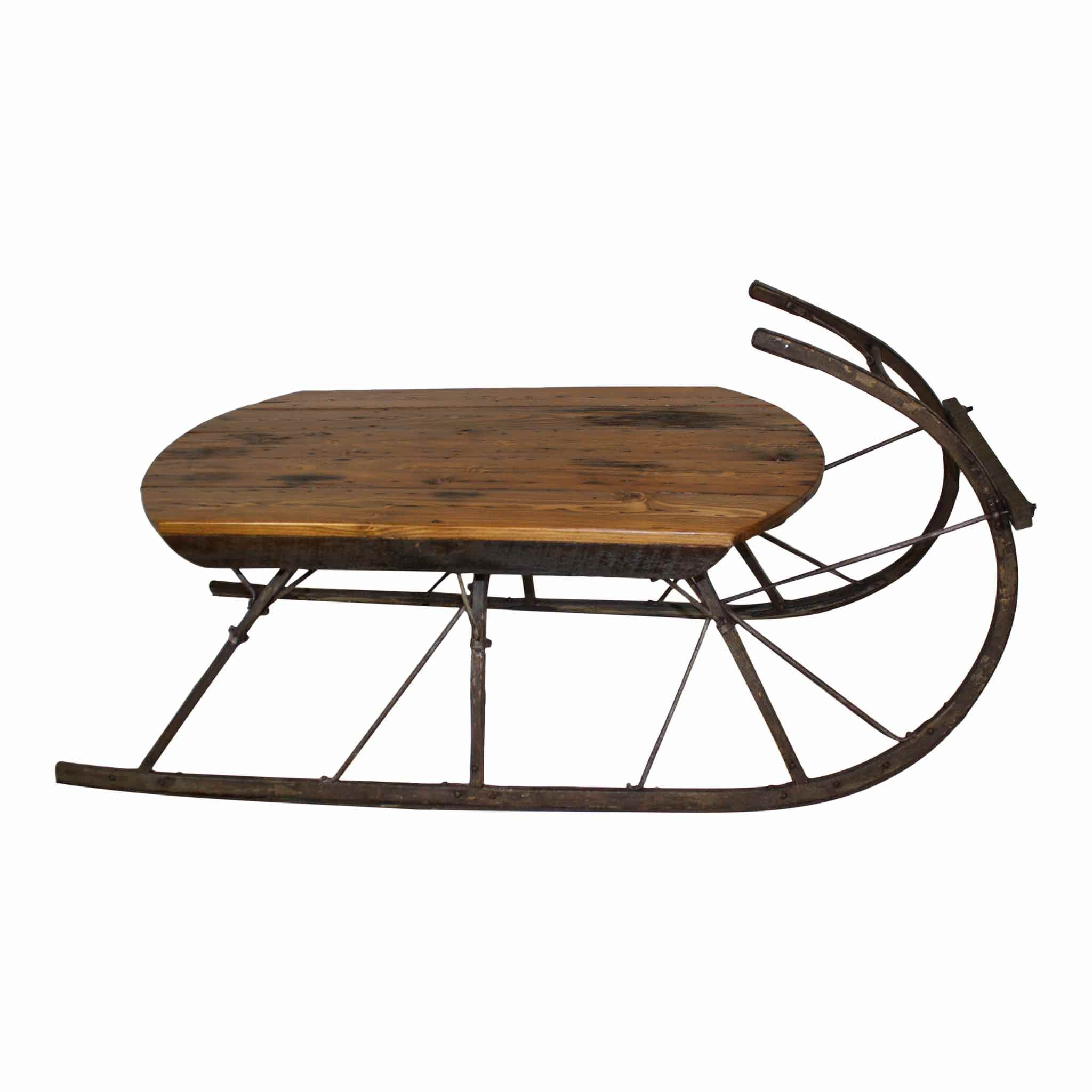Sleigh coffee table reclaimed barn wood coffee and barn wood antique sleigh runners and reclaimed barn wood were used to create this lovely sleigh coffee table geotapseo Images