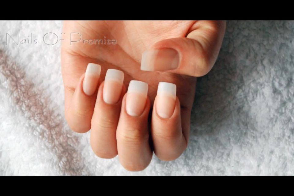 My Gel Manicure With White Tip And Half Round Ends Gel Nails French American Manicure Nails Gel French Manicure