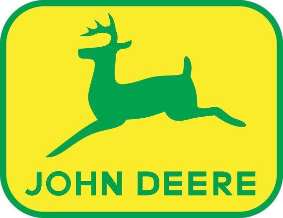 John Deere Logo Decal WALL STICKER Home Decor Art By PrintaDream - John deere idees de decoration de chambre