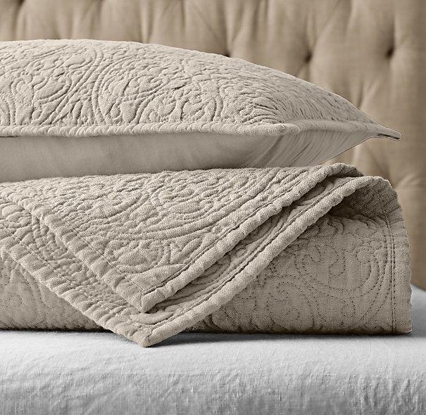 Vintage washed belgian linen quilt shams in dune from vintage washed belgian linen quilt shams in dune from restoration hardware publicscrutiny Images