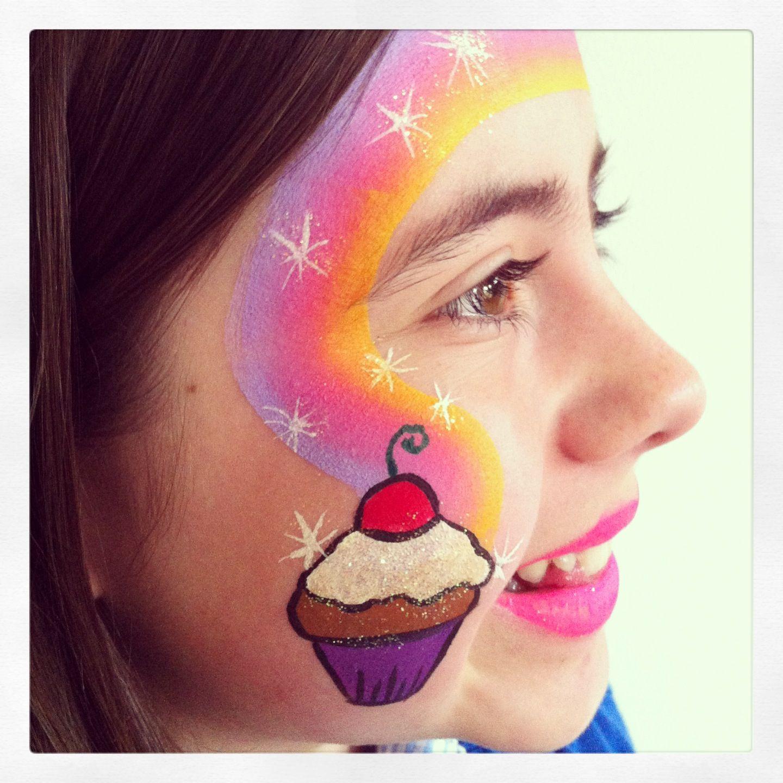 Cupcake face paint Face painting ideas Pinterest