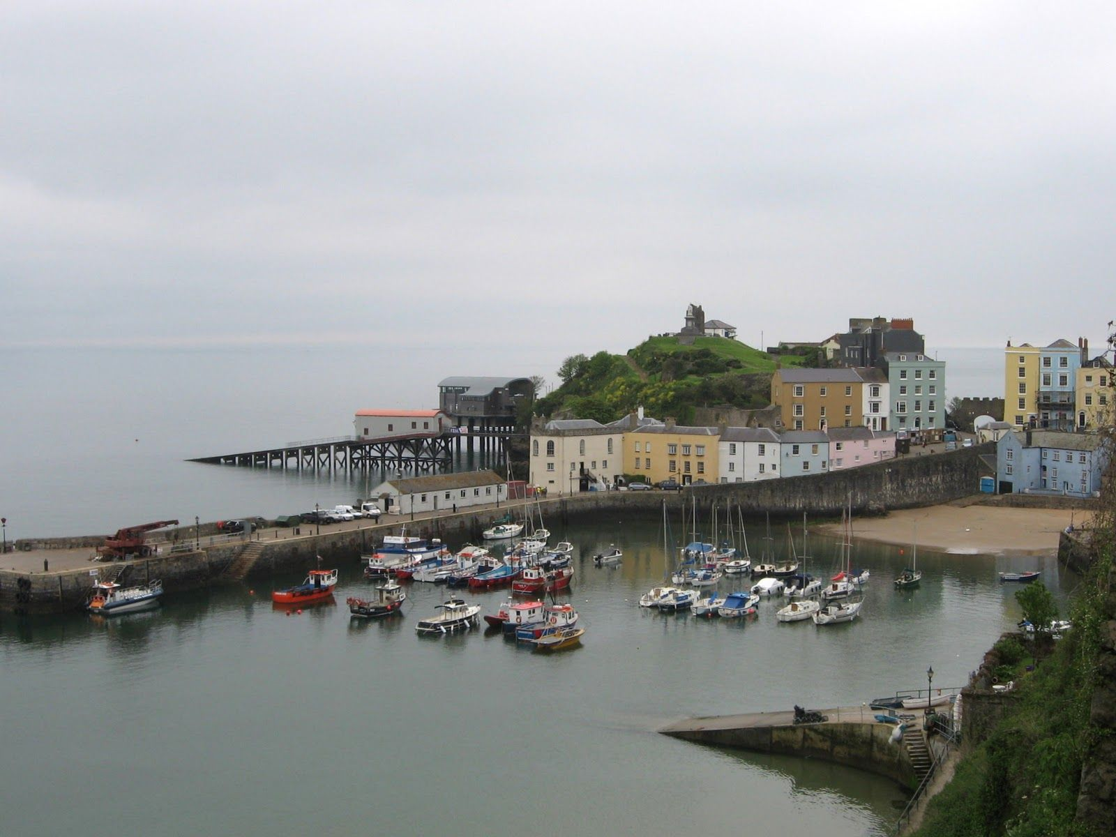 Fishguard, Wales and the ferry to Rosslare, Ireland. (With