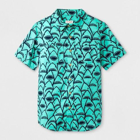petiteBoys' Short Sleeve ButtonDown Shirt Animal Print