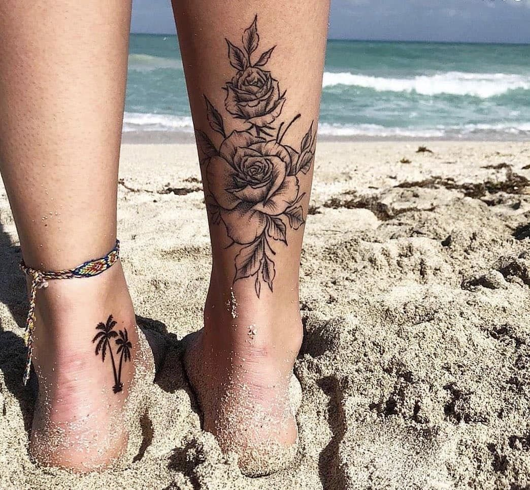 "Photo of ɪɴsᴛᴀᴛᴛᴏᴏ2 🎨🇧🇷 on Instagram: ""Tattoo Floral e Coqueiro 🌷🌴 @? Usem a #instattoo2 // @instattoo2 . . . . #tattoo#inkstinctsubmission #floraltattoo…"""
