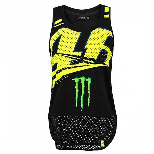 18edb3be2df4 46 VALENTINO ROSSI VR46 TANK TOP MONSTER ENERGY MONZA RALLY WOMEN'S  OFFICIAL MOTOGP 2018