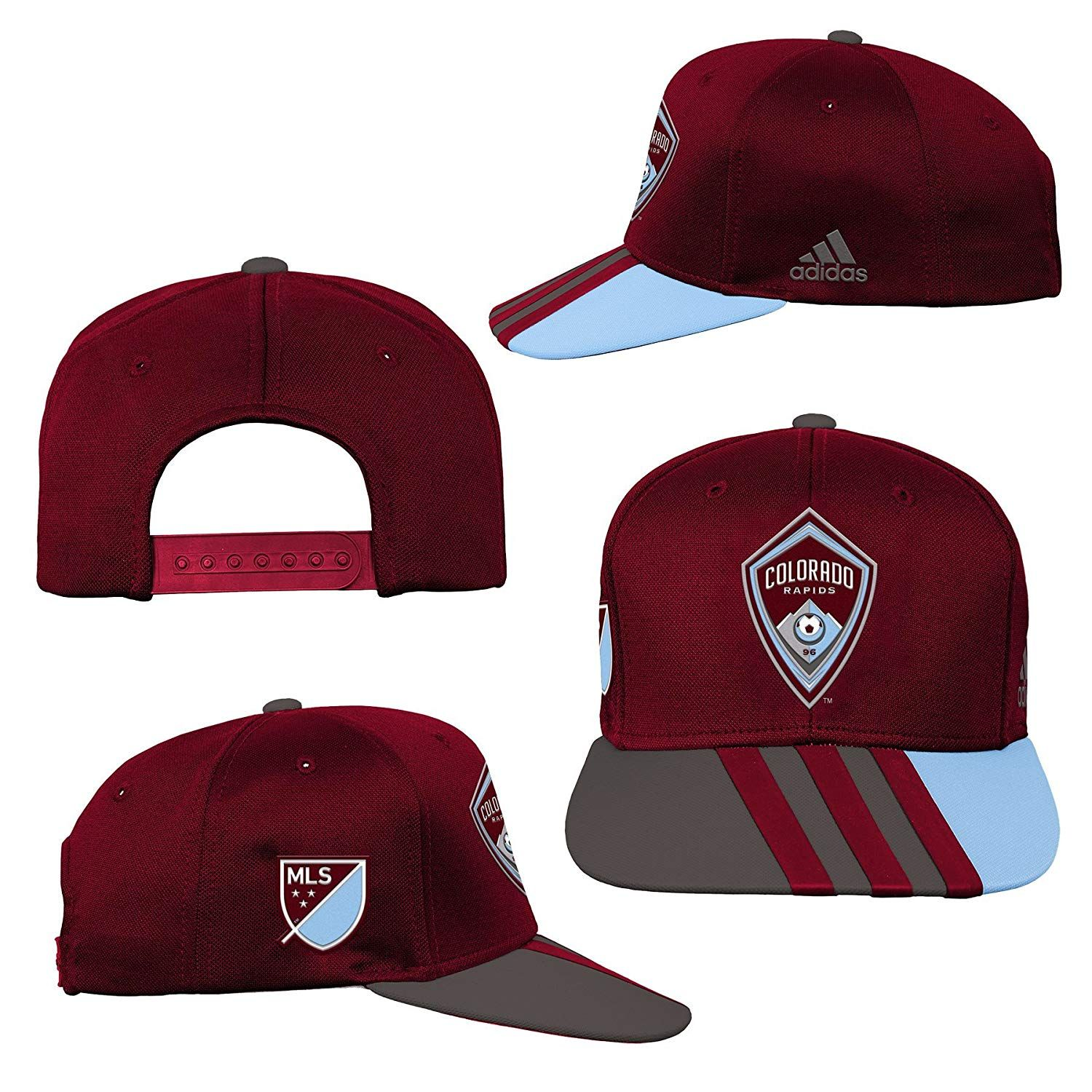 a392d73edbb1d Outerstuff MLS Colorado Rapids R S8FMK Youth Boys Flatbrim Snapback ...