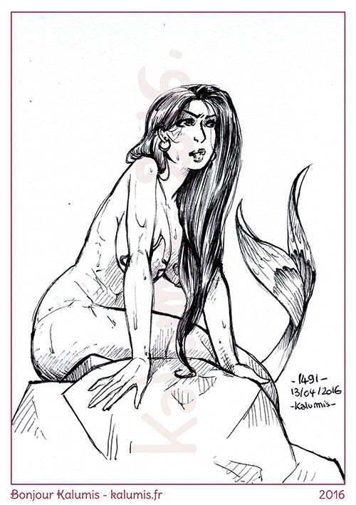 1491 Everyday since march 2012 on http://kalumis.fr Support my work on #Patreon : http://ift.tt/1RqclZE #Art #Sexy #PinUp #Drawing #Ink #Pentel #Anatomy #Reference #Challenge #Daily #Kalumis
