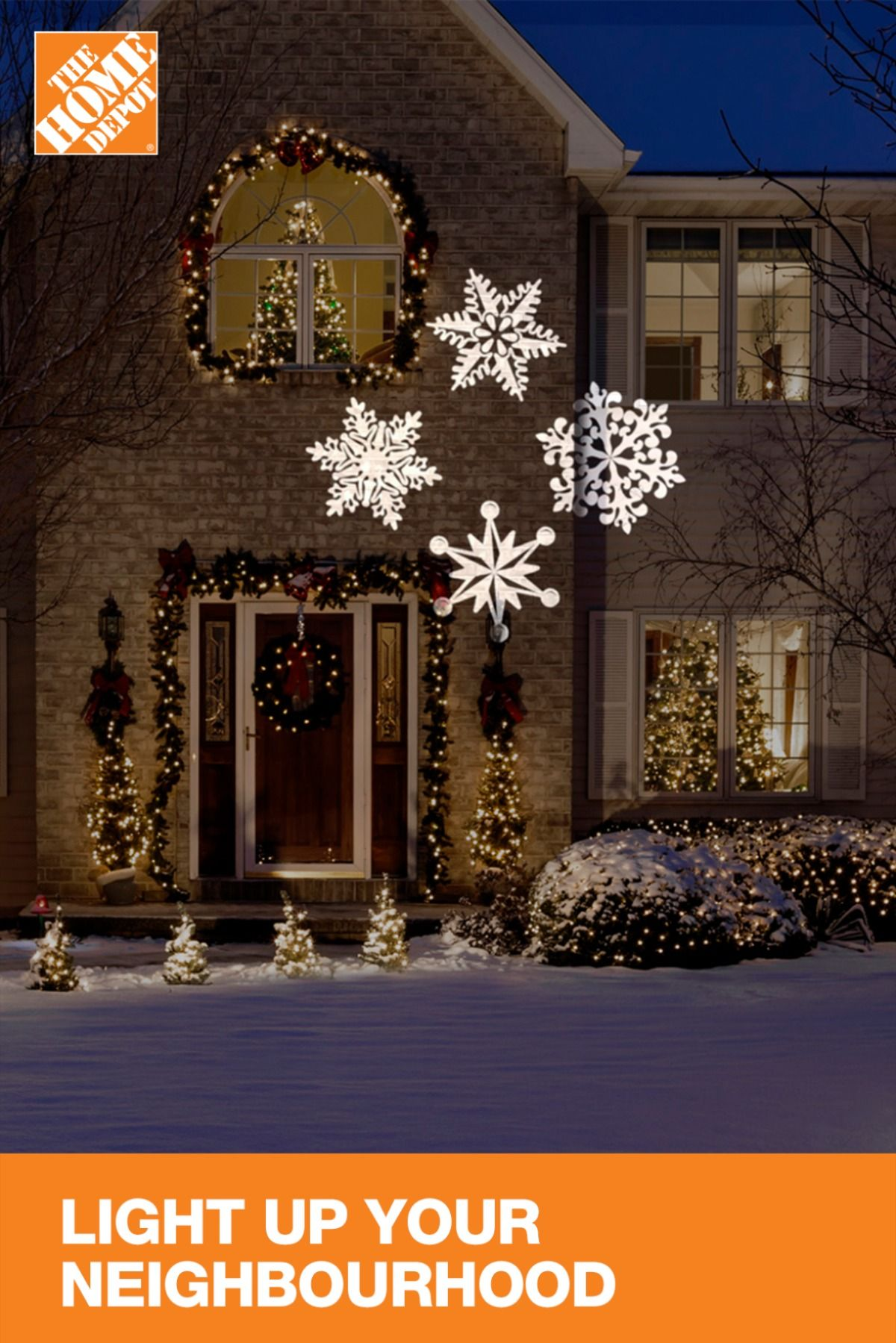 Christmas Lights Are The Best Way To Set A Festive Mood The Home Depot Features A Christmas Lights Diy Christmas Yard Decorations Outdoor Christmas