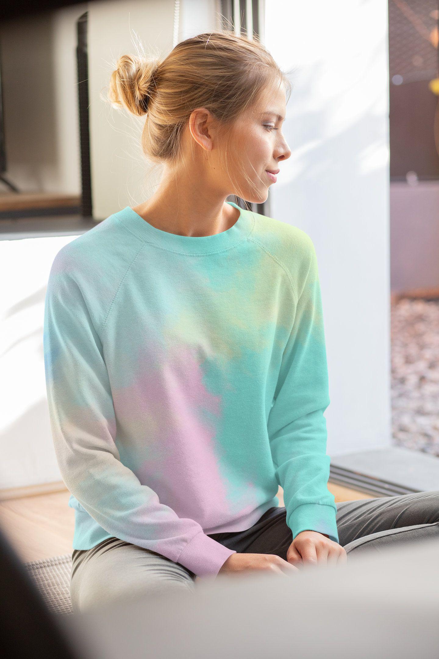 Vanilla Sky Unisex Sweatshirt Cotton Candy Women S Sweatshirt Tie Dye Design Unisex Pullover Unisex Swea Tie Dye Designs Sweatshirts Women Unisex Sweatshirt [ 2160 x 1440 Pixel ]
