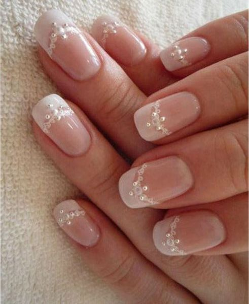 classy wedding nail bride