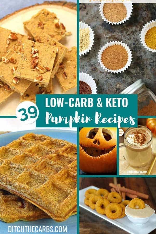 39 Best Low-Carb and Keto Pumpkin Recipes Look what I just discovered!!! 39 of the Best Low-Carb and Keto Pumpkin Recipes. Sweet, savoury, drinks and homemade pumpkin pie spice latte.