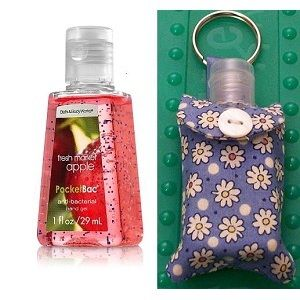 Pocketbac Antibacterial Hand Gel Keychain Holder Hand Sanitizer