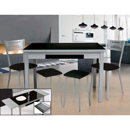 Conjunto de mesa extensible, sillas y taburetes de cocina modelo ...