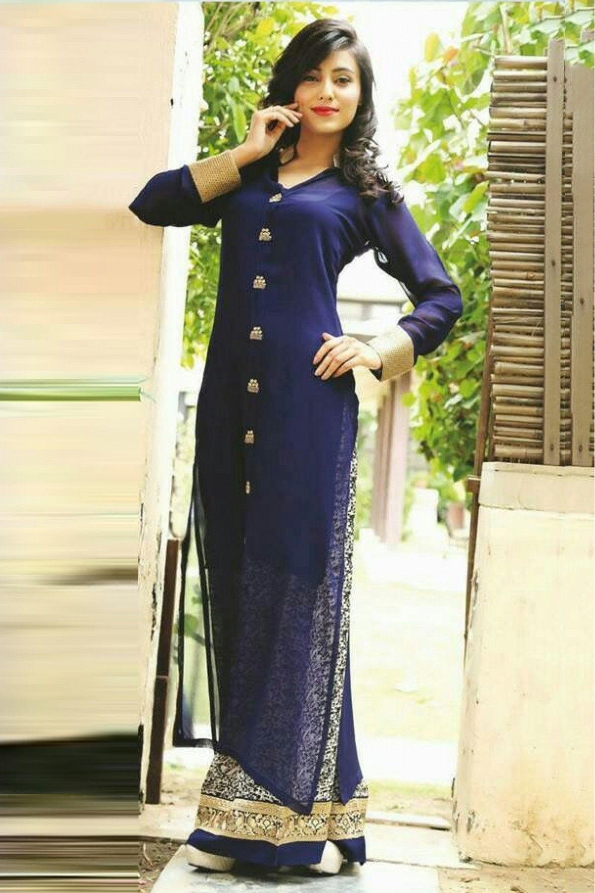 d85765b74a Georgette and Net Party Wear Palazzo Pant Suit in Blue Colour.It comes with  matching Dupatta and Bottom.It is crafted with Embroidery.