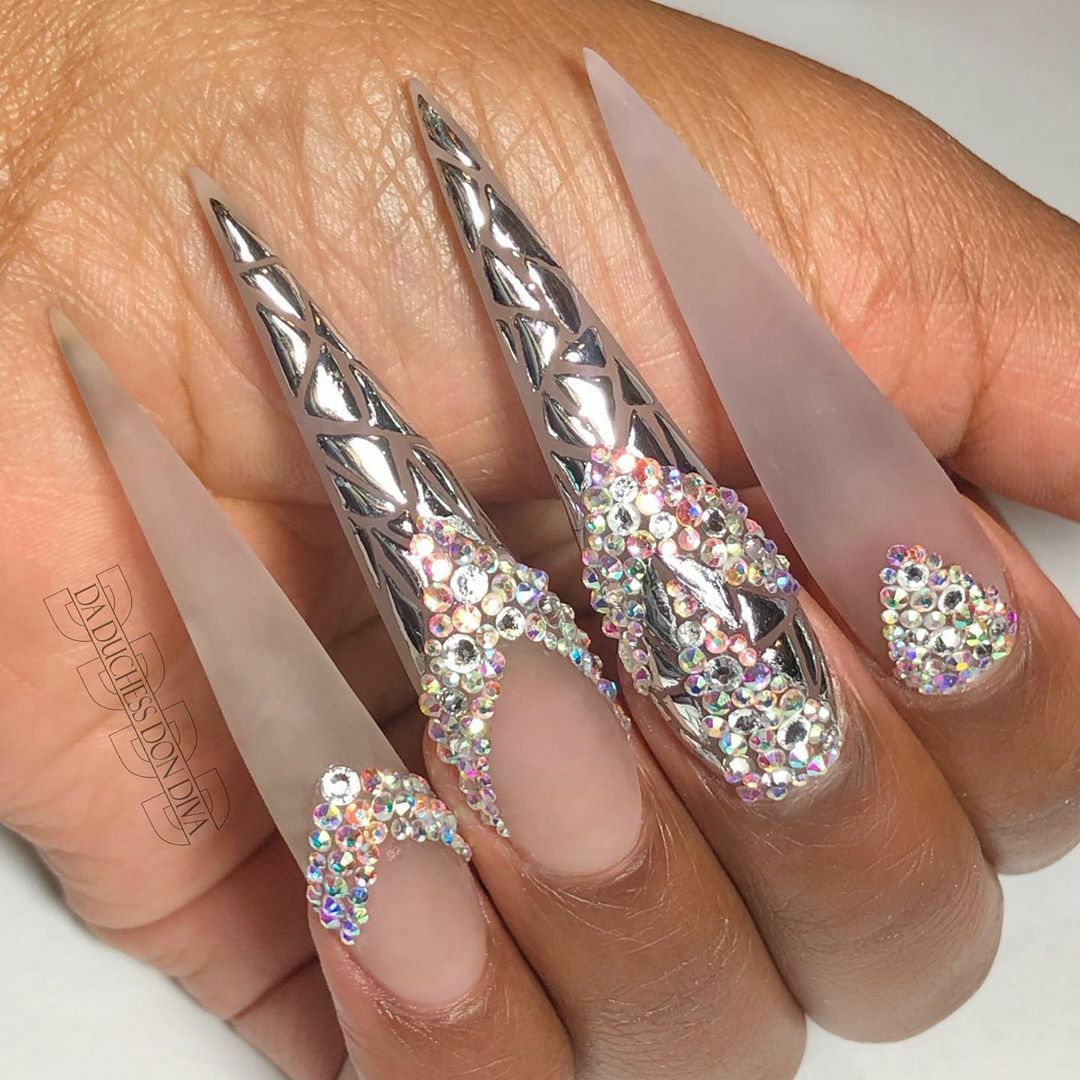 Pin by glizzyglamourous on CLAW Nails, Bling nails