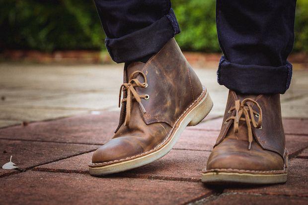 clarks bottine cuir desrt boot