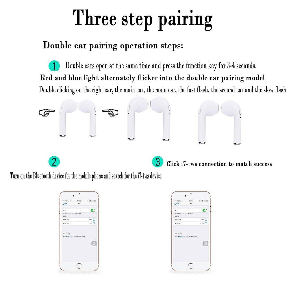 medium resolution of for apple airpro i7s tws twins wireless earphone mini bluetooth ear pods hbq f10 earbuds stereo car charging box