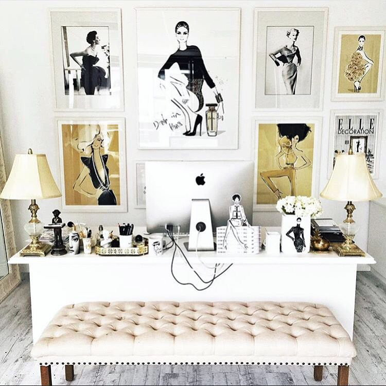 Workspace home interior design inspiration. Desk bedroom ...