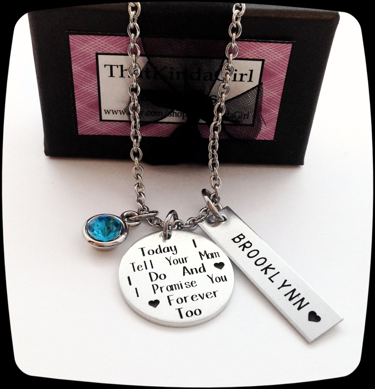 Daughter of bride jewelry step daughter gift blended