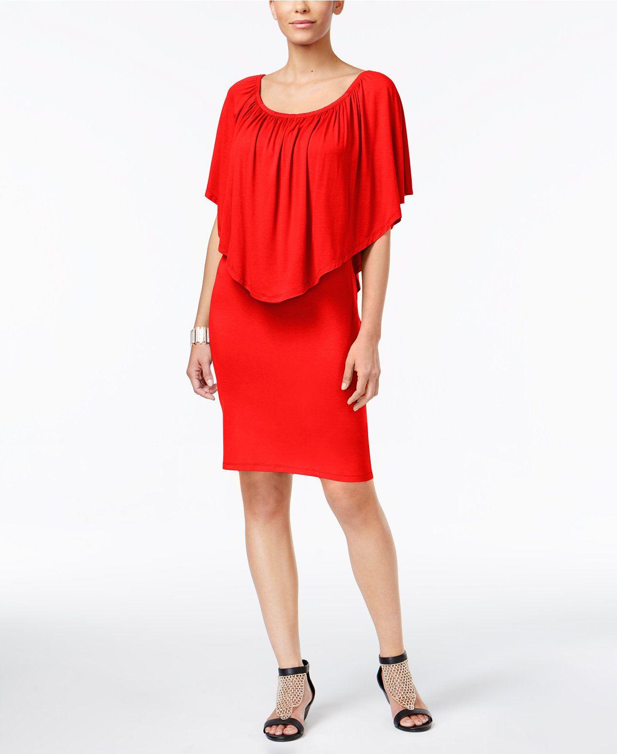 f333894406c7 Thalia Sodi Convertible Ruffled Off-The-Shoulder Dress