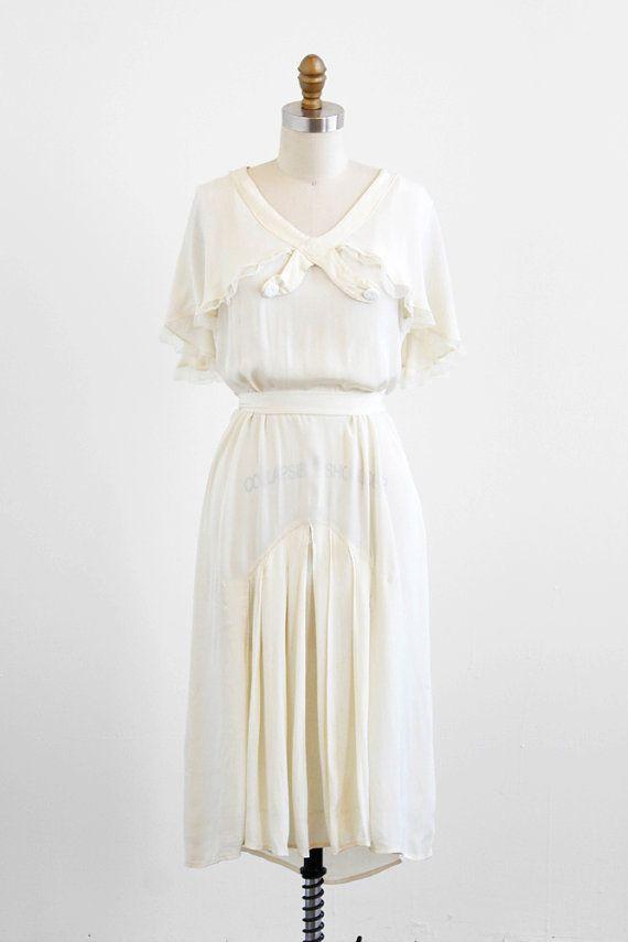 vintage 1920s wedding dress / 1920s dress / Cream by RococoVintage ...