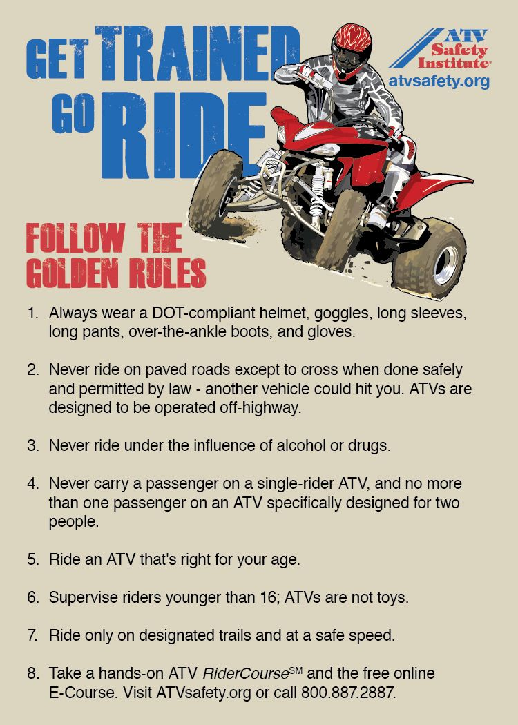 Http Www Atvsafety Org Images Asi Golden Rules Jpg Golden Rule