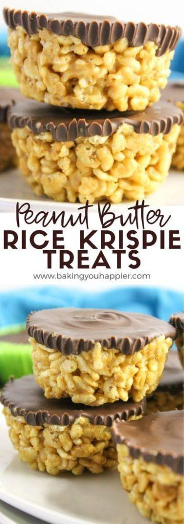 Peanut Butter Rice Krispies Treats | Baking You Happier