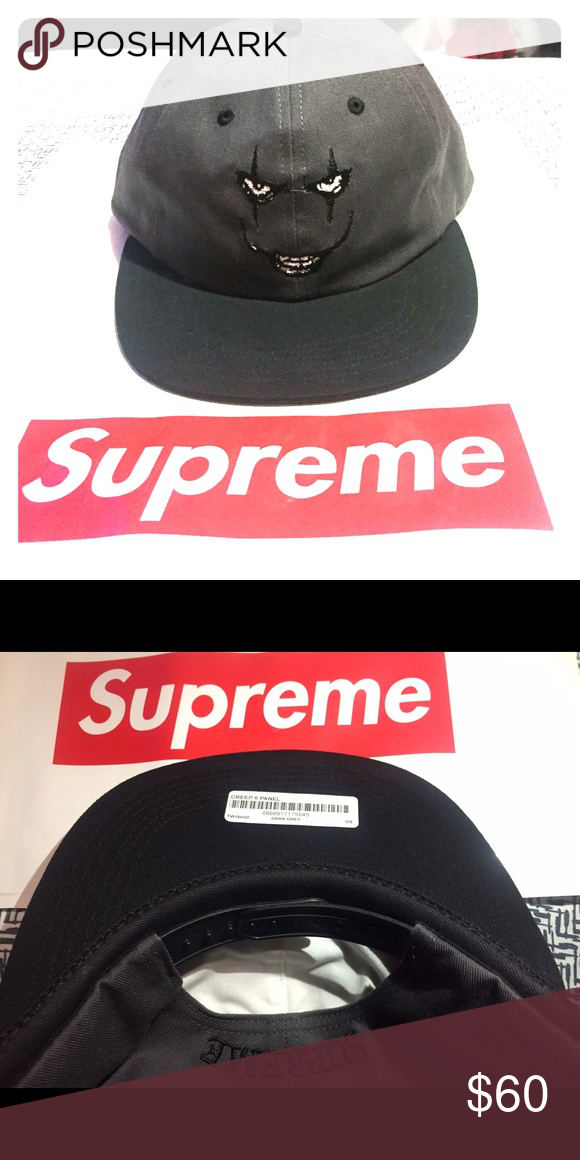 Authentic Supreme 6 panel creep hat. Authentic supreme hat. Original tags  still on and never worn. Supreme Accessories Hats d7979777d72