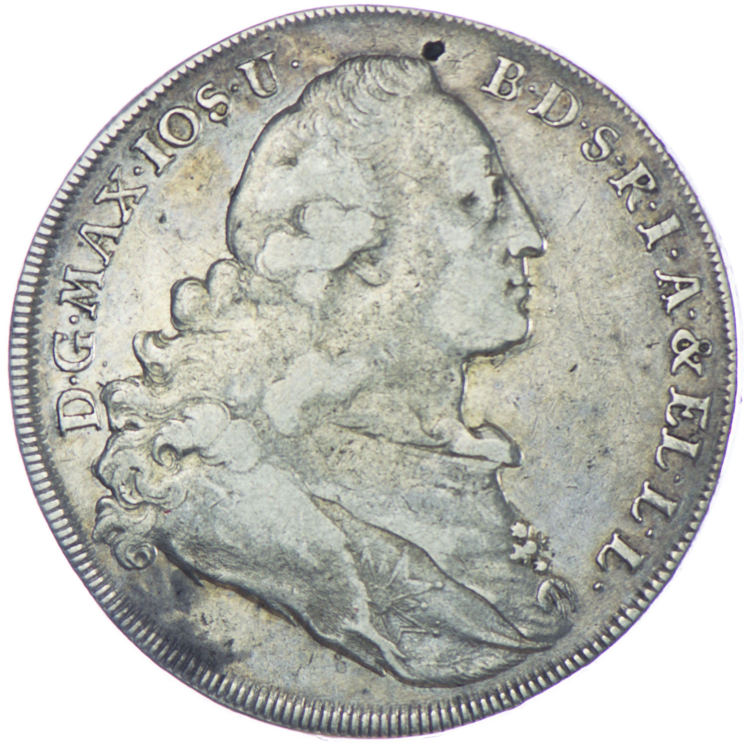 Bayern, Maximilian III. Joseph 1745 - 1777 Madonnentaler 1771 Silber