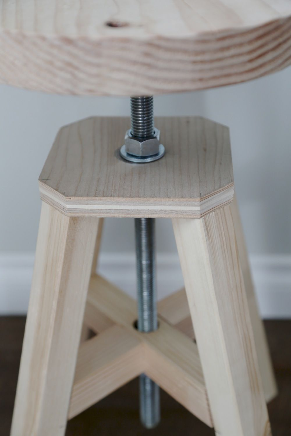 Ana White | Build A Adjustable Height Wood And Metal Stool, I Love Building  Things!!!!! DIY Furniture, The DIY Life | Free And Easy DIY Project And ...