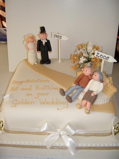 10 increíbles decoraciones de tortas para bodas de oro | aniversario